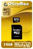 Карта памяти OltraMax microSDHC Class 10 + SD adapter