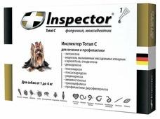 Inspector Total C Капли от блох, клещей и гельминтов для собак от 1 до 4 кг
