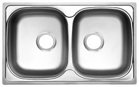 Врезная кухонная мойка UKINOX Classic CLM 780.480 20-6K 3C 78х48см нержавеющая сталь