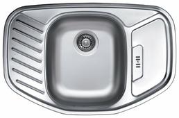 Врезная кухонная мойка Kromevye Cupid EX172 77х50см нержавеющая сталь