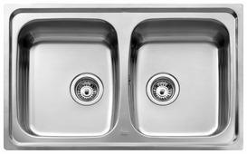 Врезная кухонная мойка TEKA Universo 2B 79х50см нержавеющая сталь