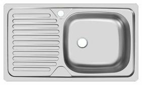 Врезная кухонная мойка UKINOX Classic CLM 760.435 76х43.5см нержавеющая сталь