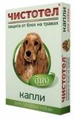 ЧИСТОТЕЛ Биокапли от блох репеллентные для средних собак
