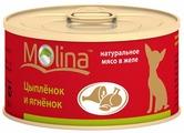 Корм для собак Molina Консервы для собак Цыпленок и ягненок