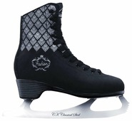 Женские фигурные коньки СК (Спортивная коллекция) Fashion Lux Black