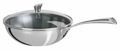 Сковорода-вок Cristel Casteline Fixe WT28CMEVB 28 см с крышкой