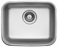 Врезная кухонная мойка UKINOX Modern MOP 420.340-GT8P 44.5х36.5см нержавеющая сталь