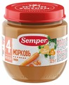 Пюре Semper морковь (с 4 месяцев) 125 г, 1 шт.