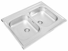 Накладная кухонная мойка UKINOX Standart STM 800.600 20-5C 80х60см нержавеющая сталь