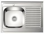 Врезная кухонная мойка Ledeme L68060-L 80х60см нержавеющая сталь