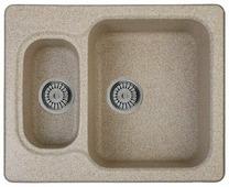 Врезная кухонная мойка Whinstone Гарда 61.5х49.5см искусственный гранит