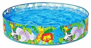 Детский бассейн Intex Happy Animals Clearview Snapset 58474