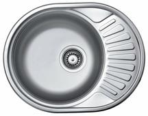 Врезная кухонная мойка Kromrus EC-457 57х45см нержавеющая сталь