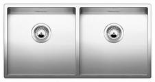 Интегрированная кухонная мойка Blanco Claron 400/400-IF 88.5х51см нержавеющая сталь