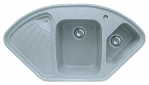 Врезная кухонная мойка GranFest Corner GF-C1040E 104х57см искусственный мрамор