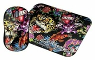 Мышь Ed Hardy Wired mouse+pad Full Color Black USB