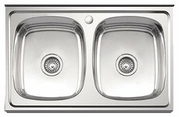 Накладная кухонная мойка Ledeme L98060B 80х60см нержавеющая сталь