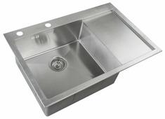 Врезная кухонная мойка ZorG INOX RX-7851-L