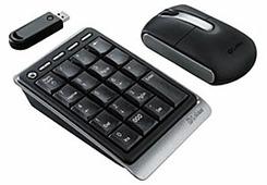 Клавиатура и мышь Labtec Wireless Accessory Kit for Notebooks Black USB