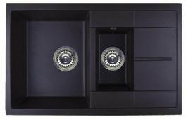 Врезная кухонная мойка ЕМАР 7802 78х50см искусственный гранит