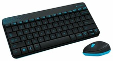 Клавиатура и мышь Logitech Wireless Combo MK240 Black-Blue USB