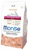 Корм для собак Monge Speciality line для здоровья кожи и шерсти, лосось с рисом (для мелких пород)