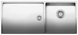 Интегрированная кухонная мойка Blanco Claron 400/550-T-IF 101.5х44см нержавеющая сталь