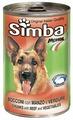 Корм для собак Simba Консервы Кусочки для собак Говядина и овощи