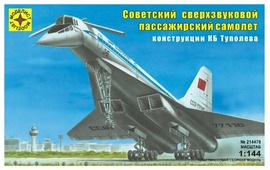 Сборная модель Моделист Советский сверхзвуковой пассажирский самолёт конструкции Туполева - 144 (214478) 1:144