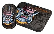 Мышь Ed Hardy Wired mouse+pad King Dog Black USB