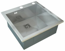 Врезная кухонная мойка ZorG INOX X-5151 GX 51х51см нержавеющая сталь