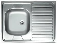 Накладная кухонная мойка Kromevye Lay on EC220 80х60см нержавеющая сталь