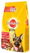 Корм для собак Pedigree для здоровья кожи и шерсти, говядина (для крупных пород)
