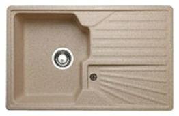 Врезная кухонная мойка Granicom G-014 78х50см искусственный мрамор