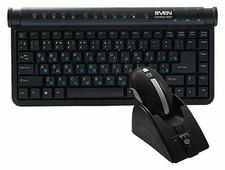 Клавиатура и мышь SVEN Wireless 9001 Radio Мouse Black USB