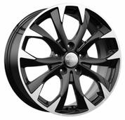 Колесный диск K&K КС740 7x17/5x114.3 D67.1 ET50 алмаз черный