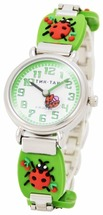 Наручные часы Тик-Так H108-3 Зеленые божьи коровки