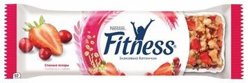 Злаковый батончик Nestle Fitness Спелые ягоды Клубника и клюква, 23.5 г