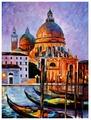 """Рыжий кот Картина по номерам """"Венецианские гондолы"""" 40х50 см (Q1517)"""