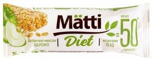 Злаковый батончик Matti Diet Яблоко, 6 шт