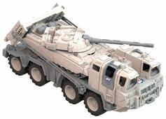 Набор техники Нордпласт Военный тягач Арктика с танком (288)