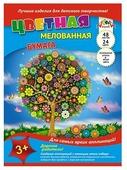 Цветная бумага Волшебное дерево Апплика, A4, 48 л., 24 цв.