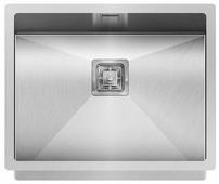 Врезная кухонная мойка AQUASANITA Dera DER100L 55х45см нержавеющая сталь