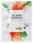 Petitfee Увлажняющая тканевая маска для лица с протеинами шелка