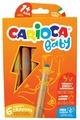 Carioca Восковые карандаши Baby, 6 шт + точилка