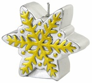Свеча Феникс Present новогодняя Снежинка (78314 / 78315 / 78316)