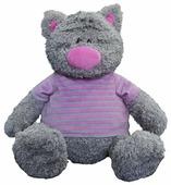 Мягкая игрушка Maxitoys Серый кот в полосатой майке 25 см